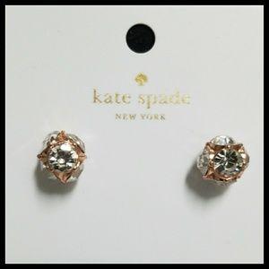Kate Spade Rose Gold Crystal Studs